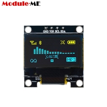 0.96 Inch I2C IIC Serial 128X64 128*64 Yellow Blue OLED LED Display Module Compatible For Arduino STM32 Controller Driver Board(China)