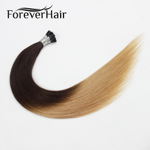 "FOREVER HAIR 0.8g/s 16"" 18"" 20"" Remy I Tip Human Hair Extensions Ombre Color #T2/27 Straight Keratin Pre Bonded Stick Human Hair(China)"