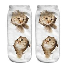 Buy 2018 Fashion Cartoon Socks Women Cat Cute Casual Animals Style Striped Warm Cotton Socks Lady Floor meias Socks Female for $3.39 in AliExpress store