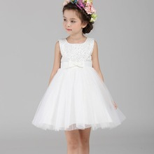 Chiffon Flower Girls Dress For Wedding Sequin Pageant Gowns Baby Birthday Party For Christmas Princess Dresses For Little Girls(China)