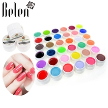 Belen ALL 36pcs Pure Color LED UV Pure Colors Gel Nail Polish UV Nail Art DIY Decoration for Nail Manicure 36 Pots Color