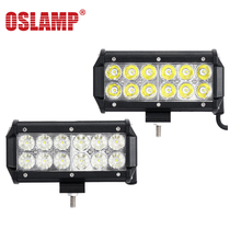 "Oslamp 36W 7"" Flood Spot Beam LED Work Light Bar Offroad 12V 24V 4x4 4WD LED Fog Lamp Truck Motorcycle Boat Van Tractor Lamp RZR"