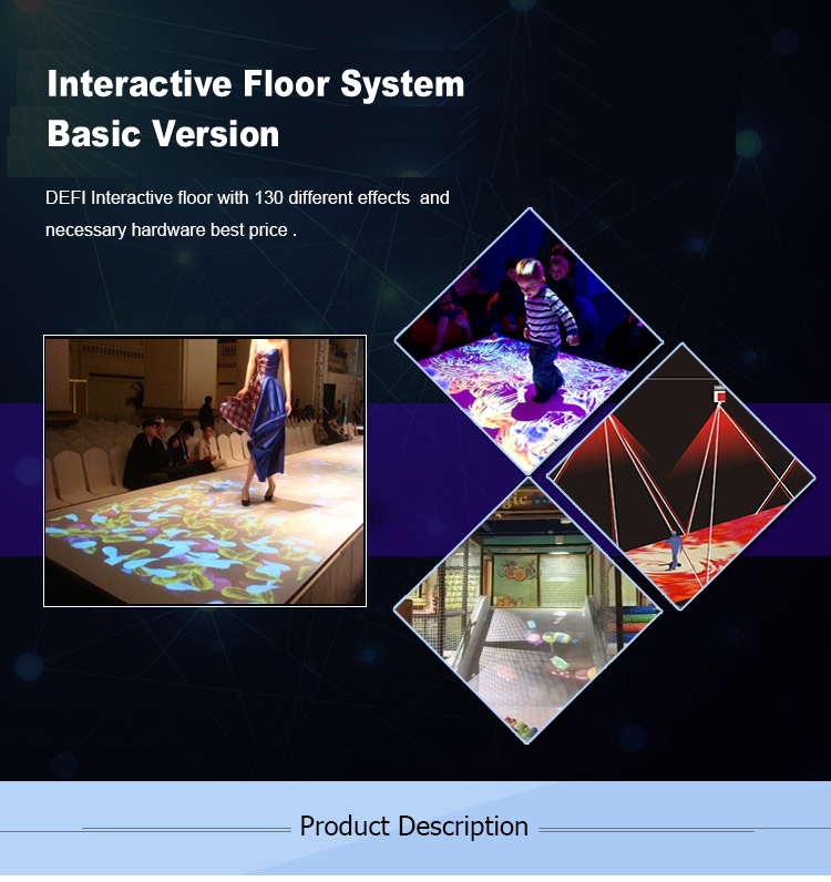DefiLabs Interactive Floor Projector/Interactive Wall Projection System with 130 effects