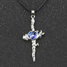 K Missing Kings K Return Of Kings Necklace Suoh Mikoto The Sword Of Damocles Cross Blue Crystal Pendant Anime Jewelry Wholesale