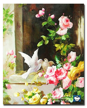 diy Diamond painting cross stitch Peony and pigeons Diamond mosaic pattern rhinestone painting Embroidery beads paintings Mural