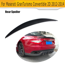 Black FRP Rear Trunk Spoiler Boot Wing For Maserati GT GranTurismo 2 Door Cabriolet Convertible Only 2012 2013 2014