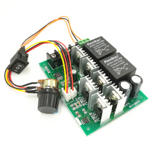 Powerful PWM DC 12v / 24v / 36v / 48v 40A motor speed controller with reverse switch(6.5)(China)