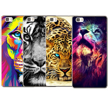 New style Most popular Transparent Soft Silicone lion TPU soft Cover Coque For Huawei P8 P8 Lite P9 P9 lite Cases luxury