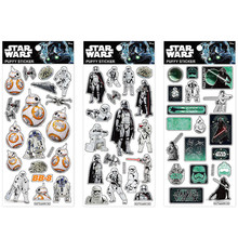 Disney 3pcs Set Kids Gifts DIY Decoration Sticker Luminous Puffy Bubble Stickers Star Wars for Notebook Luggages Glow in Night(China)