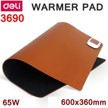Deli 3690 PU warmer Pad 220-240V 50HZ heating pads 60x36CM heating mouse pads PU heating pads temprature adjustable 65W(China)