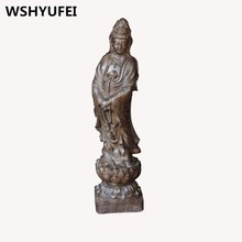 Natural material incense wood carving statues gods bless Oriental feng shui protection safe high-quality home decoration office(China)