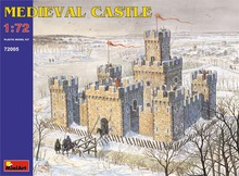 1/72 Proportion Scenario model medieval castle Assembly model Toys(China)