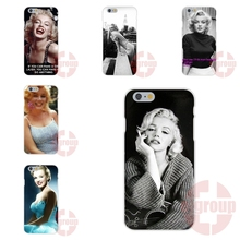 Soft TPU Silicon Cases For Sony Xperia Z Z2 Z3 Z4 Z5 compact M4 M5 C C3 C4 C5 C6 E1 E3 E4 T3 X XA Popular Marilyn Monroe Quotes