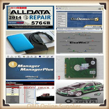 2017 Hot Auto Repair Alldata Software V10.53+mitchell on demand 5 software 2015 usb hard disk all data DHL free shipping(China)