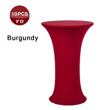 Shipping FREE 10PC Wedding Stretch Table Cover 60cm Universal Spandex Lycra Dry Bar Cocktail Table Cloth of Dining Party Outdoor