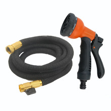 100FT Garden Hose Expandable Hose with 10 Pattern Spray Nozzle High Pressure magic Expanding Garden hose free shipping 100FT(China)