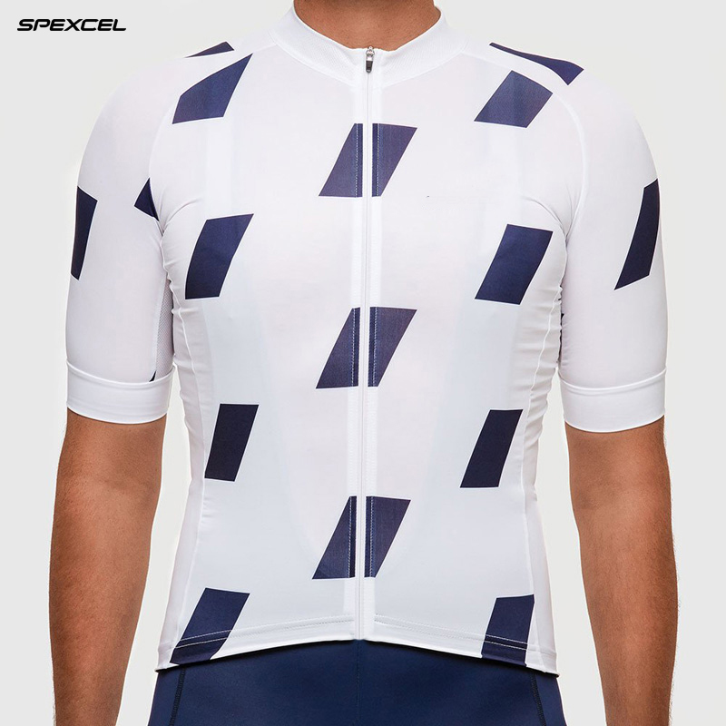 2017 summer White with DARK BLUE CYCLING JERSEY SHORT SLEEVE classic cycling wear Ropa Ciclismo bike clothes High quality(China (Mainland))