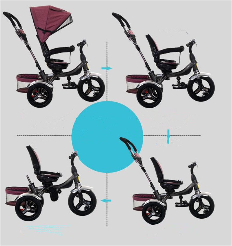 2017 kids Tricycle Pram 3 wheel Baby Stroller Child Three Wheels Carriage Baby Buggy Bike Bicycle For 6 Month to 6 Years Old9