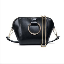 Women Shell Handbags Lady Leather Casual Purse Designer Crossbody Chain Ring Shoulder Bag Small Min Messenger Bags Bolas Mujer