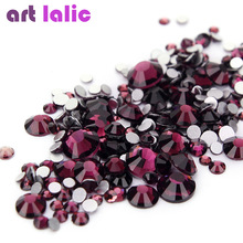 Artlalic 1440 Pcs Rhinestones for Nails Design Strass Silver Foil Back Nail Art Decorations Glitter UV Gel Manicure Diamonds