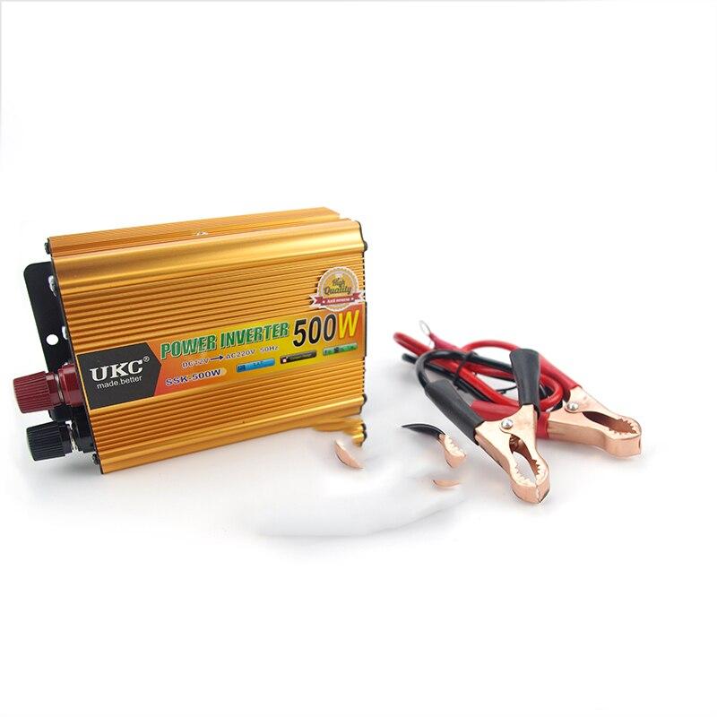 Vehicle 500W Inverter Car Power Inverter Converter DC 12V to AC 220V USB Adapter Portable Voltage Transformer Car Chargers<br>