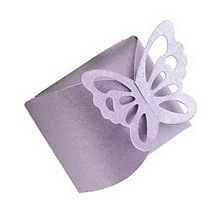 Butterfly Candy Box DIY Folding Party Wedding boda Decoration Gift Paper Favors Boxes White/Pink for Wedding Decoration  100pcs