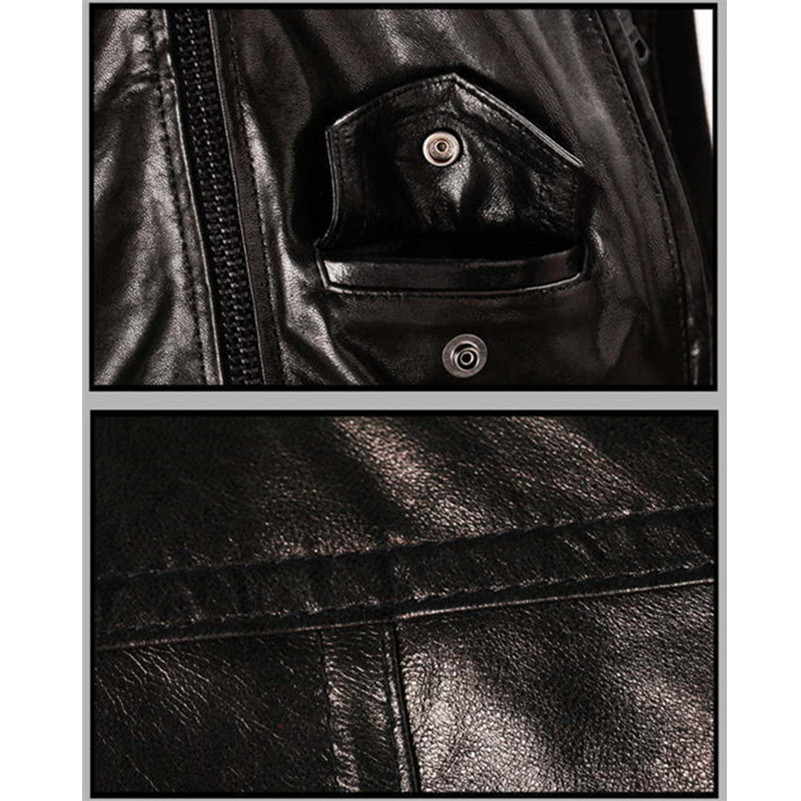 New leather jacket with hood men Solid Style Motorcycle Suede Jacket winter campera cuero hombre best selling