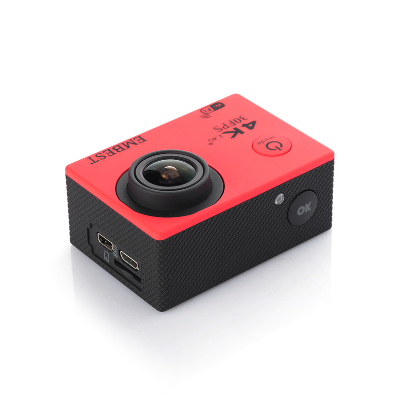 EMBEST 4K WIFI Sports Action Camera With Remote Control Ultra HD Waterproof Underwater 30M Camcorder 16MP 170 Degree Wide Angle 7