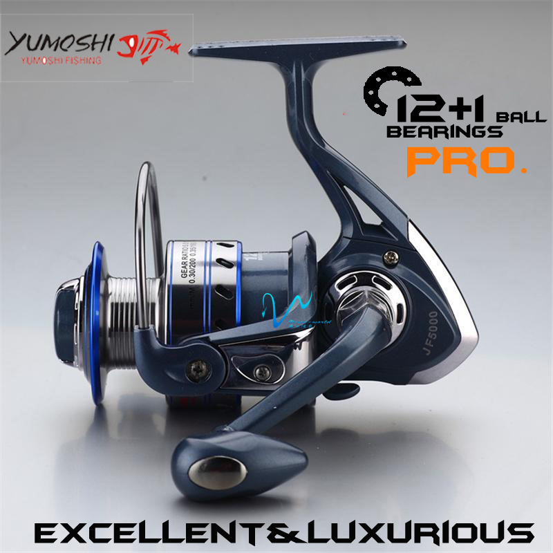 Vivid-worlD Fishing reel spinning reel 13 BB 5.5:1 High speed Metal main body Mix 12kg Ultra-lightweight strength carp reel(China (Mainland))