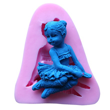 3D Angel Girl Silicone Cake Mold Flower Fairy Fondant Chocolate For Decorating Tools Soap Candle Kitchen Baking Accessories