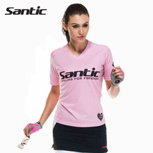 Santic Summer Women Cycling Loose Base Layer Cool Pink Short Sleeve Women Short Sleeve Cycling Jerseys Sportwear WLC02066(China)