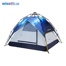 Wissblue Automatic Camping Tent for Outdoor Recreation Double Layer Waterproof 3-4 Person Tourist Tent Travel Tents 4 Season(China)