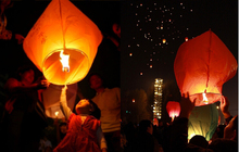 SKY Balloon Kongming wishing Lanterns,Flying Light Halloween Lights,Chinese sky Lantern Wholesale 100pcs/lot(China)