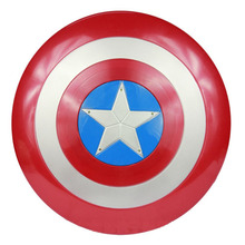 Marvel Super Hero Series the Avengers Captain America 1:1 Shield with LED light & Soud Collectible Toy(China)