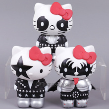 HELLO KITTY Cosplay KISS The Starchild Demon Catman Vinyl Figure Collectible Model Toy 13cm 3 Styles