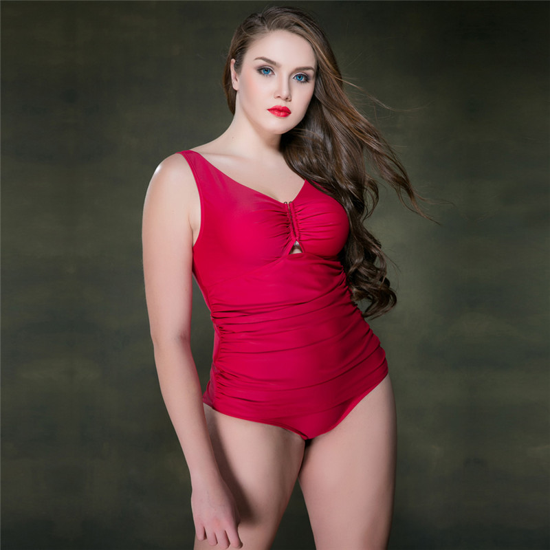 2017 Sexy Women Swimwear With Wire With Chest Pad One Piece Plus Size Swimsuit Swimming For Women Sport Professional Swimsuit<br>