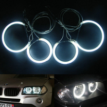 Free shipping Auto Car CCFL Halo Ring Eyes for BMW  E83 2004 up to now,One Set Ccfl Angel Eyes with 6 Beautiful Colors