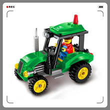 With Gift+Building Blocks Tractor Truck 112Bricks Assemble Toy Interlocking Construction Brinquedos For Kids+Factory Price