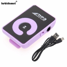2017 New Mini MP3 Music Player Portable Clip MP3 Player With Micro SD Card Slot Provide Stereo Earphone & USB Cable dropshipping