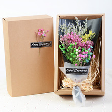 5 Types Mini Simulation All Babysbreath Dried Flower Bouquet Gift Box Valentine  Birthday Gifts Home Deco Christmas Gifts