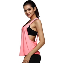 Buy 6 Colors Summer Sexy Women's Tank Tops Quick Drying Loose Brethable Fitness Sleeveless Vest Workout Top Exercise Donna#LSJ for $2.65 in AliExpress store