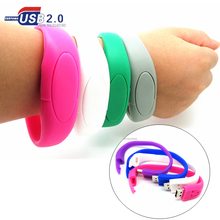100% real capacity 8 colors bracelet wrist band USB Flash drive silicone USB Stick Pen Drive 4GB 8GB 16GB 32GB storage device(China)