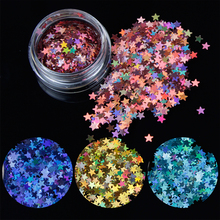 1box Star Nail Sequin Laser Paillettes Holographic Nail Sparkle Glitter  Manicure Dust Tips Nail Art Decoration WJ01-12