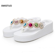 Fashion Shining Women's Sandals Casual Beach Woman Summer Shoes Nice Looking Increasing Height Sweet Fall Slippers Female Home