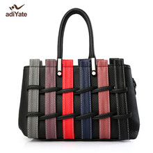ADIYATE Fashion Knitting Small Handbag Cheap Women Bags Weaving Leather Large Tote Bag Bolsas Luxo Mulheres Sacos De Designer(China)