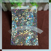 "165x165 square ( 6.5"" x 6.5"")  Holographic foil poly mailer"