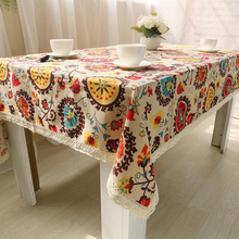 Cotton Linen Folk Custom Bohemia Table Cloth High-quality Tablecloth For Picnic Party Banquet Home Table Cover