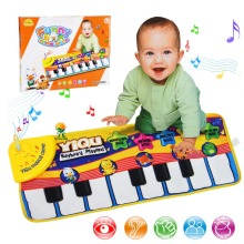 New Infant Baby Piano Playing Toy With Funny Music And Animal Sounds Crawling Mat Bay Kids Educational Gift 72*29cm(China)
