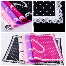 Nail Art Tips Practice Silicone Table Cover Mat Pad Lace Printing Coloring Polish Gel UV Washable Foldable Tools Salon Manicure(China)