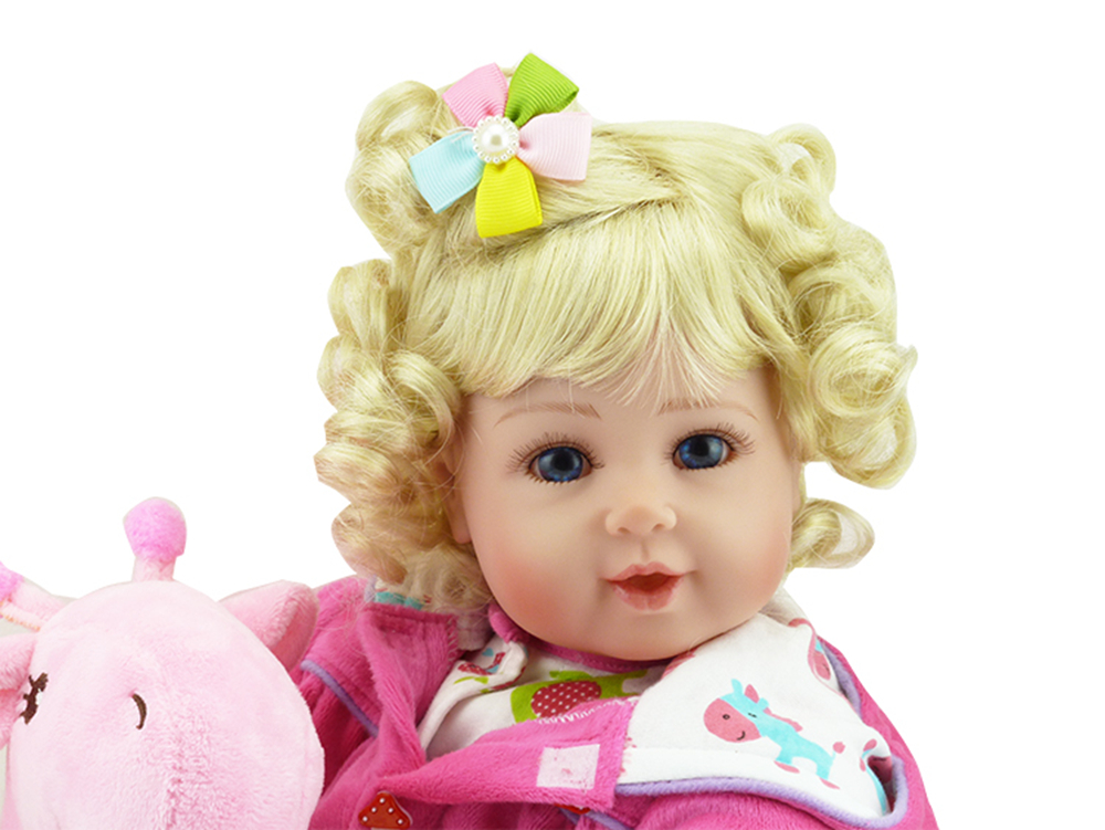 New Silicone Vinyl Adora Lifelike 20 Toddler Baby Bonecas Girl Kid Doll Bebe Reborn Menina De Silicone Toys For Children (1)